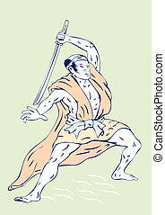 Samurai Warrior Sword