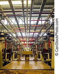 samutprakarn, tailandia, -, noviembre, 1, planta de fabricación, para, marca, coche, en, noviembre, 1, 2013, en, samutprakarn, thailand., tailandia, tener, muchos, automotor, compañía, cuál, producto, vehículo, en venta, en, asia de este de sur