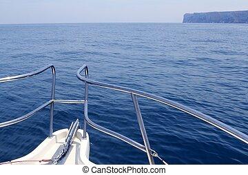 san, śródziemnomorski, łuk, przylądek, antonio, łódka