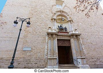 san, イワツバメ, 教会, ファサド, バレンシア, スペイン
