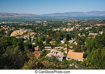 san, 平面図, 見晴らし場, フェルナンド, topanga, topanga, 谷, california.