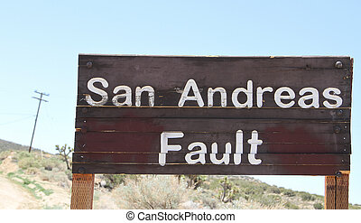 San Andreas Fault Sign