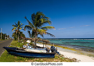 San Andres Island , Colombia - Tropical beach on the...