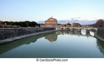 San Angelo, Rome, Italy. TimeLapse