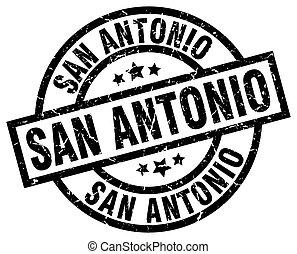 San Antonio black round grunge stamp