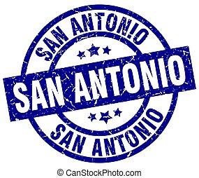 San Antonio blue round grunge stamp