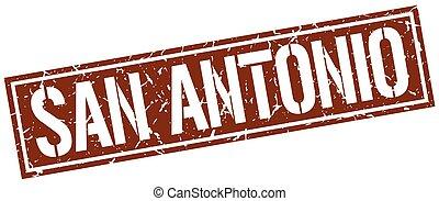 San Antonio brown square stamp