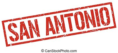 San Antonio red square stamp