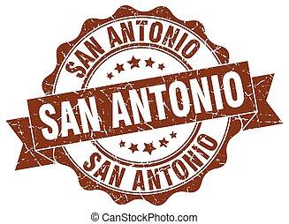 San Antonio round ribbon seal