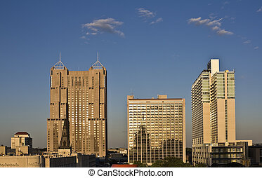 San Antonio, Texas - downtown during sunset