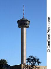 San Antonio, Texas Skyline - A tower in the San Antonio,...