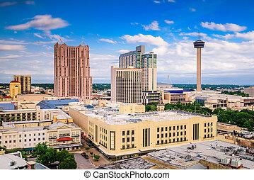 San Antonio, Texas Skyline - San Antonio, Texas, USA...