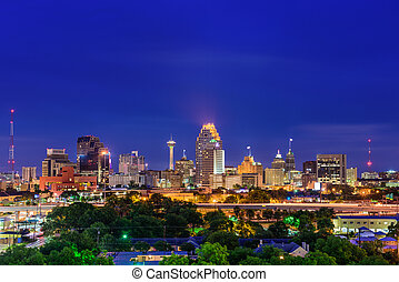 San Antonio Texas Skyline - San Antonio, Texas, USA skyline.