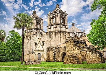 Mission San Jose - San Antonio, Texas, USA at Mission San...