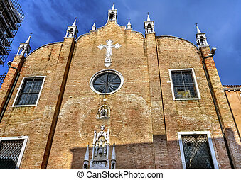 San Aponal Apollinare Church Venice Italy. Deconsetrated...