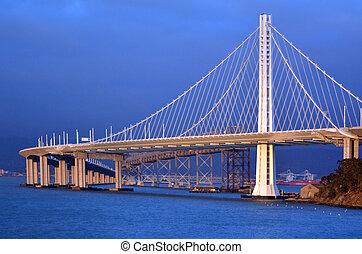 san, -, baia, oakland fanno ponte, francisco, california, nuovo