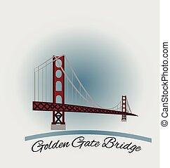 san, brama, złoty, most, francisco