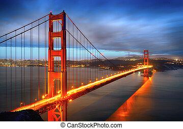 san, cancello, dorato, francisco, ponte