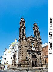 San Cristobal Church in Puebla