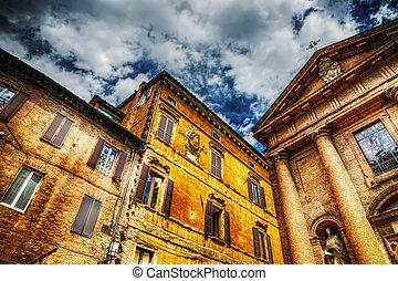 san, cristoforo, 教会, そして, 歴史的な建物, 中に, siena