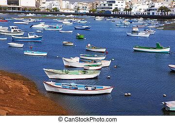 San,  de,  Lanzarote,  charco,  arrecife,  gines