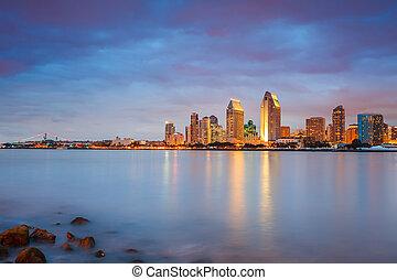 San Diego at night - Downtown San Diego at night