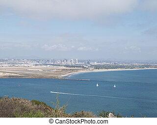 San Diego Bay and downtown San Diego.