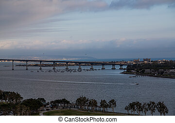 San Diego Bridge at Dusk