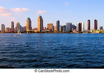 San Diego California - San Diego at sunset