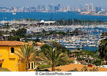 San Diego California  - San Diego skyline in the distance