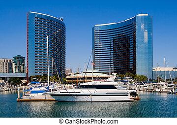 San Diego California - San Diego Harbor and downtown
