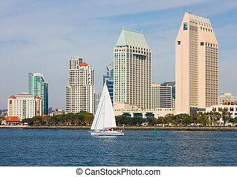 San Diego California - Skyscrapers in downtown San Diego