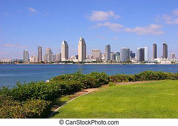 San Diego California. - San Diego skyline from Coronado...