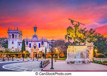 San Diego, California, USA park at dawn.
