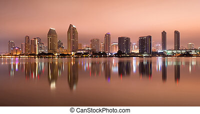 San Diego California West Coast United States City Skyline