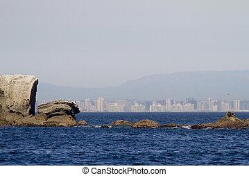 San Diego City From Coronado Islands