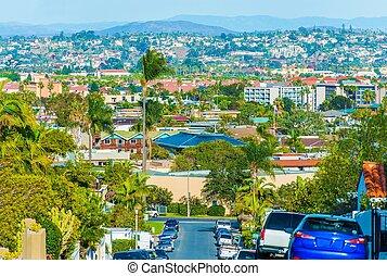 San Diego Cityscape, California, United States. Always Green...