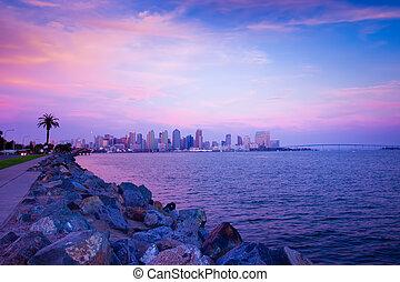 San Diego Coast - Beautiful San Diego coastline at sunset...
