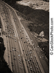 San Diego Freeway Los Angeles