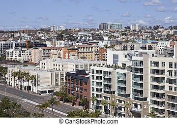 San Diego Hillside - Dense hillside architecture in scenic...