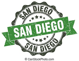 San Diego round ribbon seal