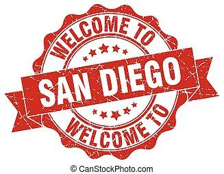 San Diego round ribbon seal