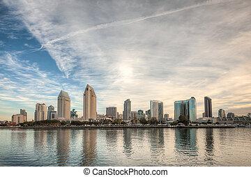 San Diego Skyline - HDR image of the San Diego Skyline in...