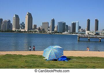 San Diego. - Downtown San Diego as seen from Coronado...