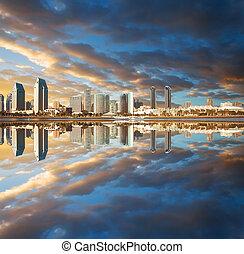 San Diego sunset - dramatic sunset over San Diego