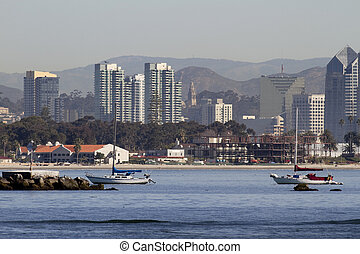 San Diego View From Sea