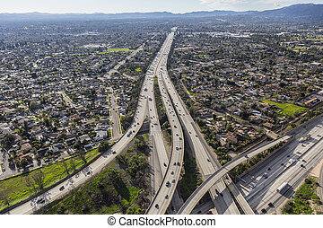 San Fernando Valley 118 Freeway in Los Angeles