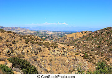 East overlook of San Fernando Valley from Rocky Peak Trails, Santa Susana Mountains, CA