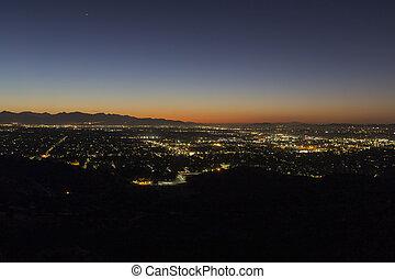 San Fernando Valley Los Angeles Dawn
