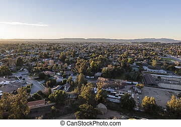 Early morning view from Stoney Point in the Chatsworth area of Los Angeles's San Fernando Valley.